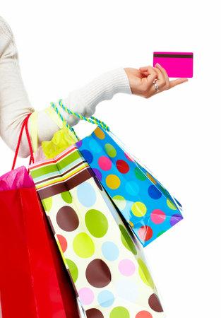 Winkelen vrouw met zakken