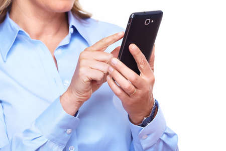 Hands of woman with a smartphone  Stock Photo - 16417379