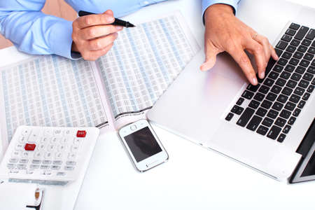 Hands of accountant business woman Stock Photo - 16417392