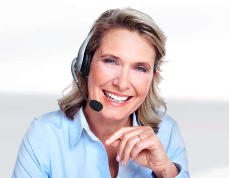 service desk: Customer service representative woman  Stock Photo