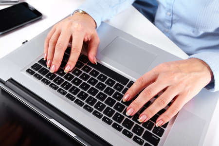 Hands with a computer keyboard  Stock Photo - 16417410