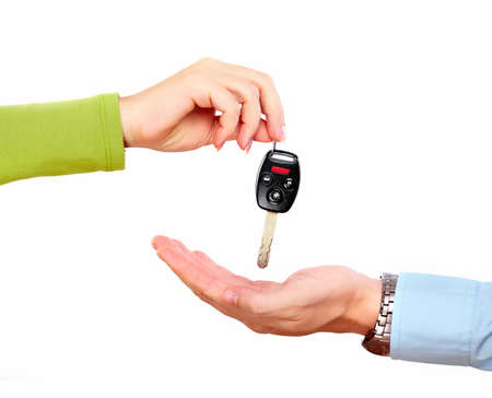 Hand with a car key  Stock Photo - 16417362