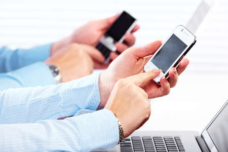 Business people calling by smartphone Stock Photo - 16417381