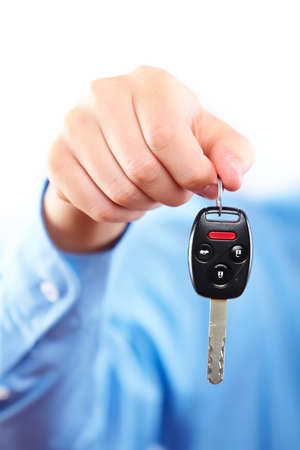 Hand with a car key Stock Photo - 16417367