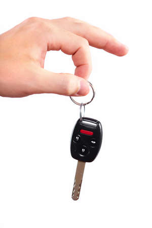 Hand with a car key Stock Photo - 16417330