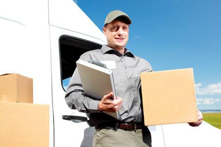 fragile industry: Delivery postal service man