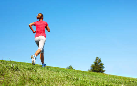 Jogging woman  Stock Photo - 16336316