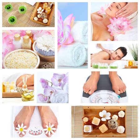 spa collage: Beautiful Spa massage collage  Stock Photo