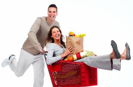beauty shop: Santa Christmas couple with a gift