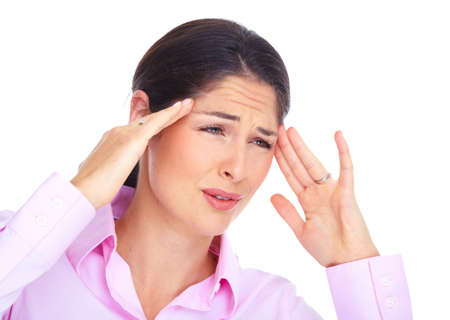 suffer: Young woman with headache