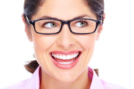 Beautiful young woman wearing glasses portrait Banco de Imagens - 16469790