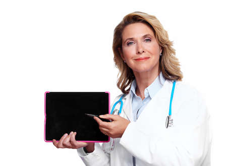 Medical doctor woman with tablet computer  Stock Photo - 16469752