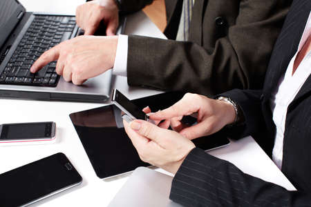 Business people group working with laptop Stock Photo - 16469801