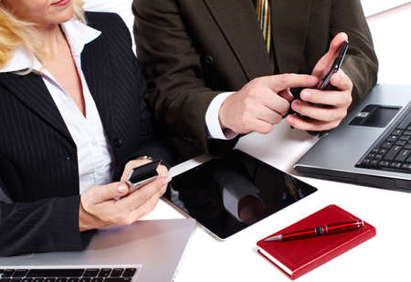 Business people group working with laptop  Stock Photo - 16469798