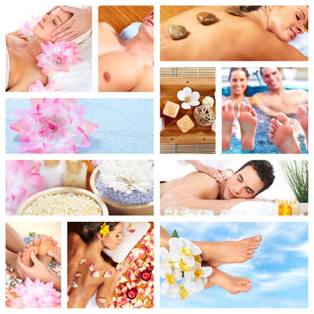 Beau collage de massage Spa photo