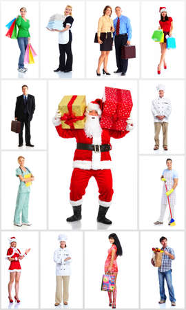 Group of workers people set Stock Photo - 16492144