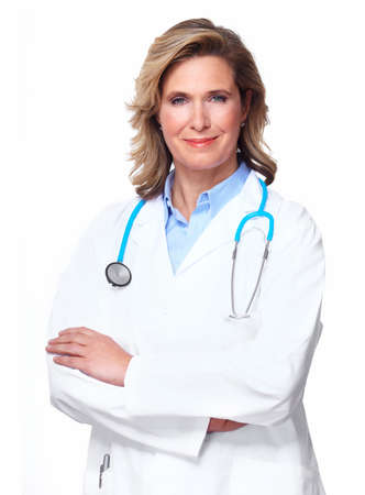 Doctor woman with a stethoscope  Stock Photo - 16619436