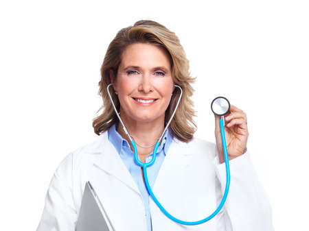 Doctor woman with a stethoscope Stock Photo - 16619420