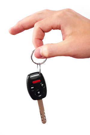 Hand with a car key Stock Photo - 16621161