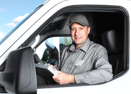 Handsome truck driver  Stock Photo - 16619491