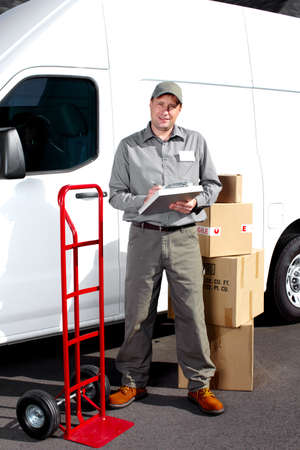 Delivery postal service man Stock Photo - 16619499