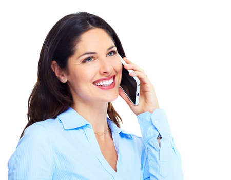 Woman with a cell phone  Stock Photo - 16619429