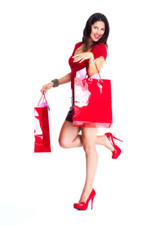 shopper: Shopping woman