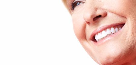 Sonrisa feliz de la mujer