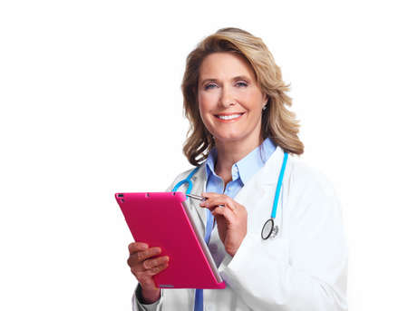Medical doctor woman with tablet computer  Stock Photo - 16606628