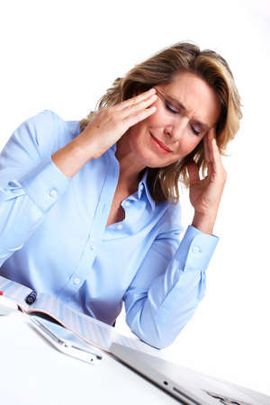 Business woman having a headache  Stock Photo - 16606999