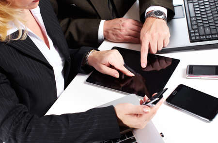 Business people group working with laptop Stock Photo - 16606816