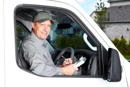 mail man: Handsome truck driver