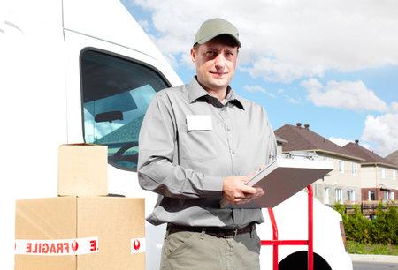 Delivery postal service man Stock Photo - 16606900