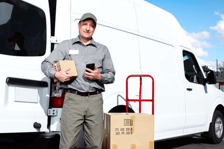 Delivery postal service man Stock Photo - 16700311