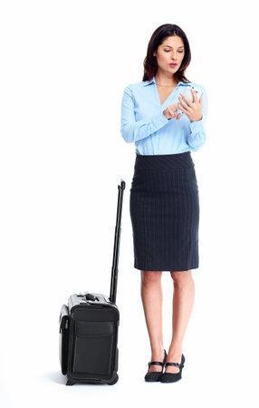 mujer con maleta: Mujer de negocios