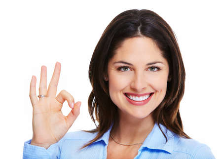 Happy successful business woman  Stock Photo