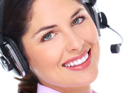 Call center operator woman  Stock Photo - 16643027