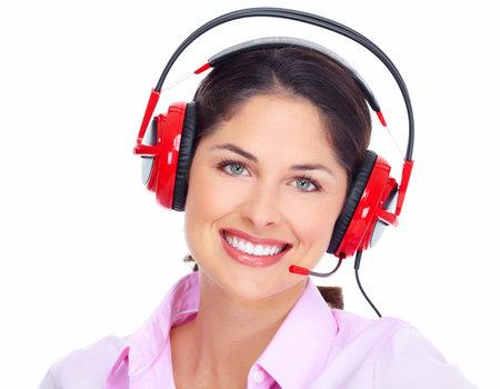 Call center operator woman Stock Photo - 16642999