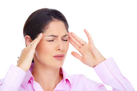 Young woman with headache  Stock Photo - 16643010