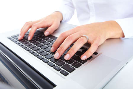 Hand with a computer mouse  Stock Photo - 16648332