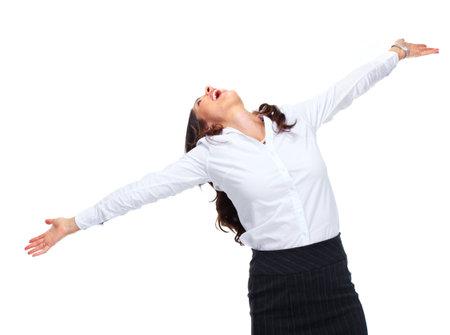 Happy Business woman Stock Photo - 16642991