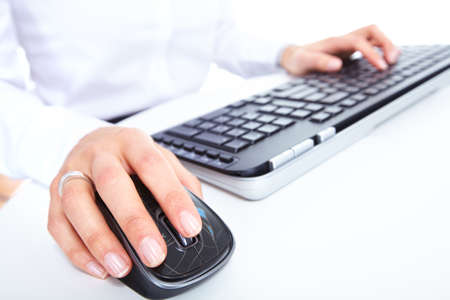 Hand with a computer mouse Stock Photo - 16648975