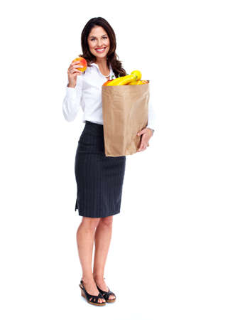 Young woman with a grocery bag  Stock Photo - 16642992