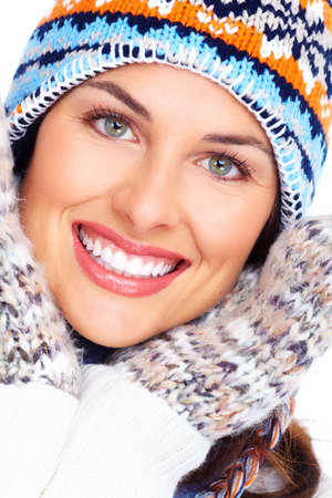 Beautiful christmas girl face  Stock Photo - 16643047