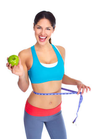 lose weight: Beautiful healthy woman