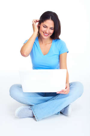 Woman with laptop computer  Stock Photo - 16640948