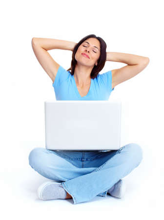 Woman with laptop computer  Stock Photo - 16640985