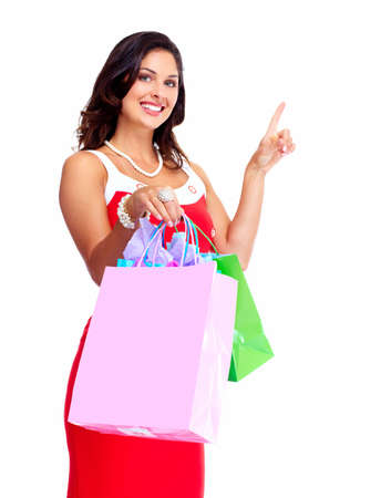 Beautiful woman with a shopping bag Stock Photo - 16758308