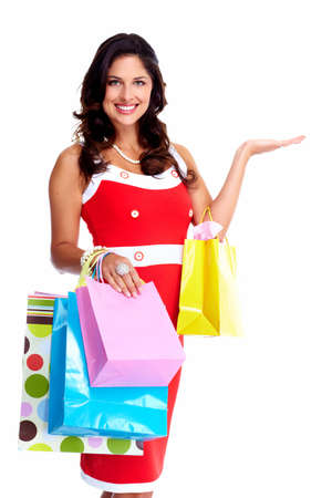 Beautiful woman with a shopping bag