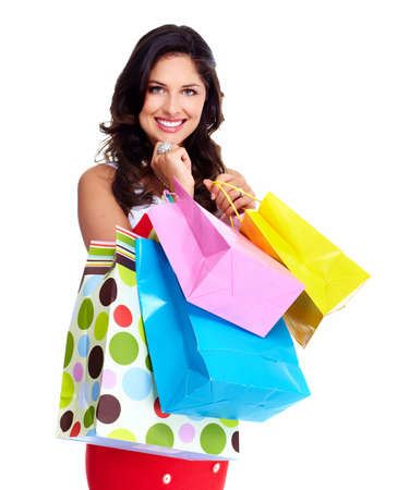 Beautiful woman with a shopping bag  photo